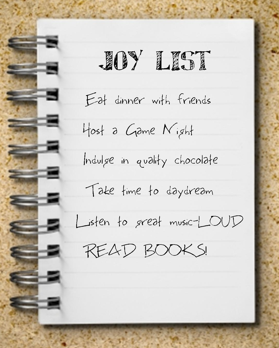 More Thoughts on a Joy List