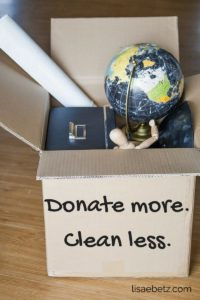 fight clutter by donating one item a day