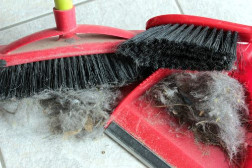 cleaning messy broom