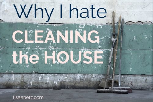 why I hate cleaning the house